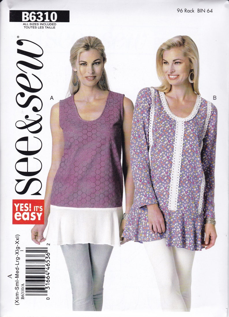 Sewing Pattern Free Us Ship  Butterick 6310 Easy See & Sew Out image 0