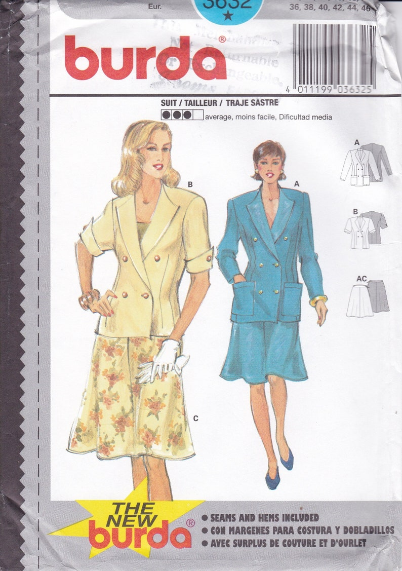 Sewing Pattern Burda 3632 Size 10 12 14 16 18 20 Bust 32 34 36 image 0
