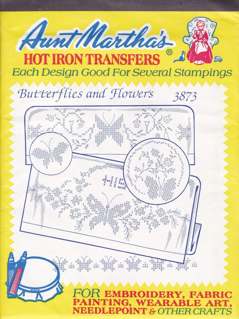 Sewing Pattern Aunt Martha's Hot Iron Transfers Sealed image 0