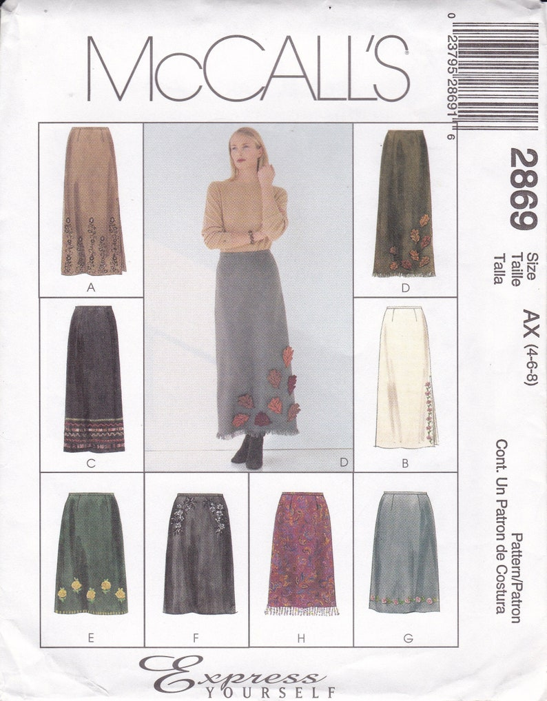 Sewing Pattern McCalls 2869 Creative Clothing Express Yourself image 0