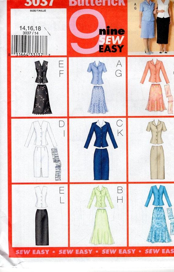 Butterick 3037 9 Looks Sewing Pattern Free Us Ship Dress | Etsy