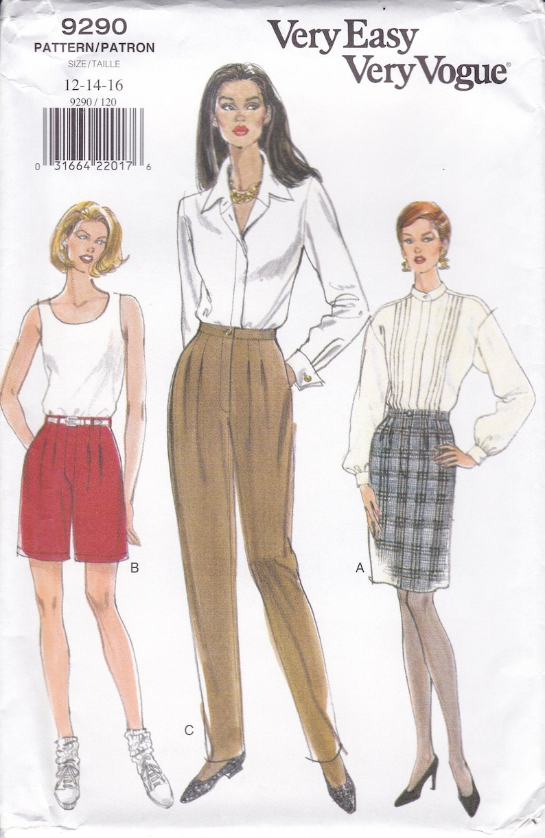 Uncut New Very Easy Vogue Sewing Pattern 9290 Skirt Shorts image 0