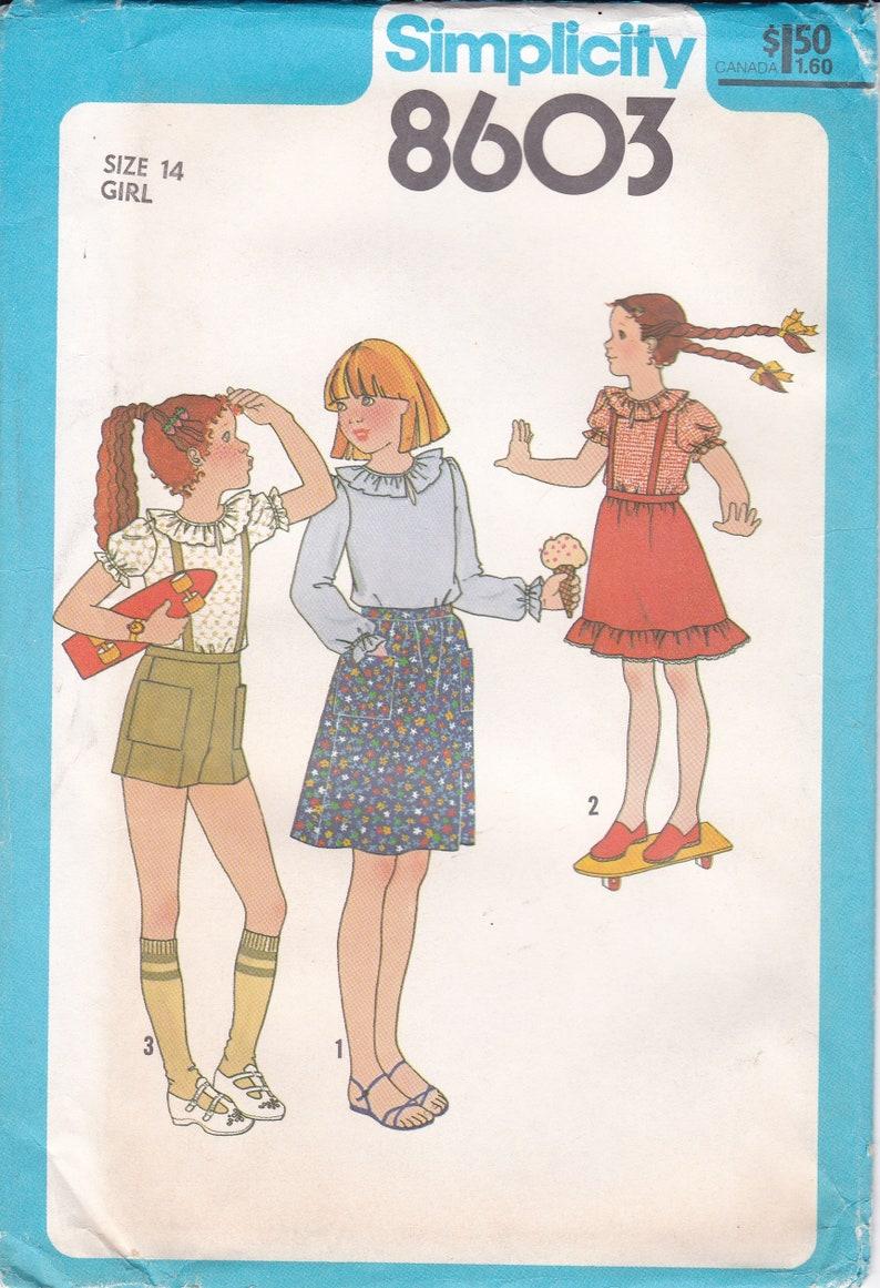 Vintage Sewing Pattern For girls Boho Top Skirt Shorts image 0
