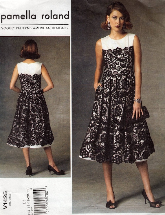 VOGUE SEWING PATTERN 8972 MISSES 6-14 CUSTOM FIT DRESS W// FLARED OR FITTED SKIRT