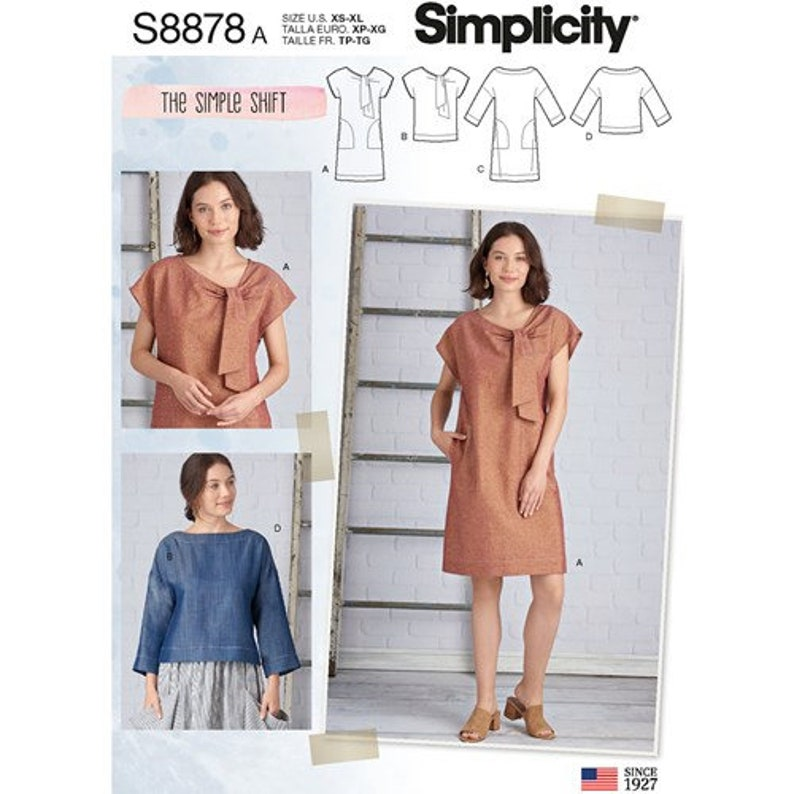 Sewing Pattern to make a Dress Top Easy To sew Loose image 0