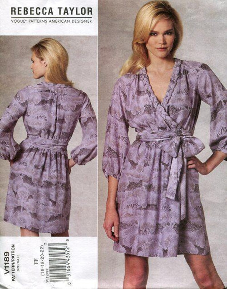 Sewing Pattern Vogue 1189 Loose Fitting Pullover Dress Dress image 0