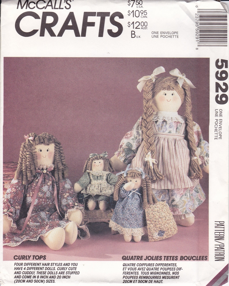 Sewing Pattern McCalls 5929 Retro 1990s 90's Curly Tops image 0