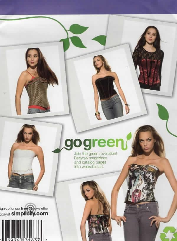 Free Us Ship Sewing Pattern Simplicity 2966 Go Green Sexy Tops Etsy