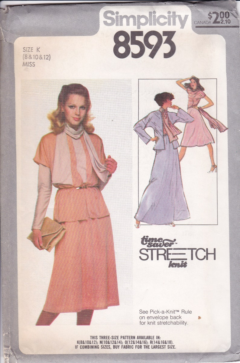 Vintage Sewing Pattern for Womans Special OccasionDress image 0
