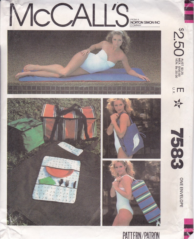 McCalls 7583 Sewing Pattern to Make a  Yoga Exercise Mat image 0