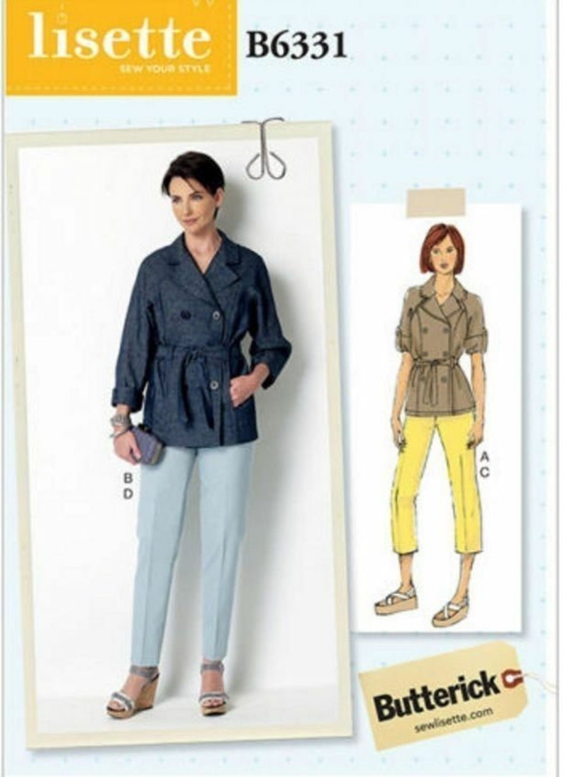Butterick Sewing Pattern 6331  LISETTE Double Breasted Jacket image 0