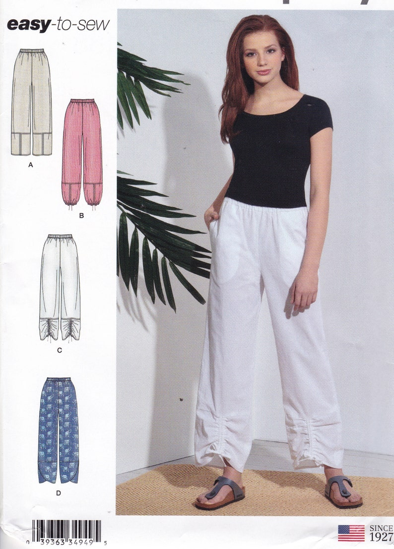 Sewing Pattern to make  Pants. Casual Leg Variations Easy to image 0
