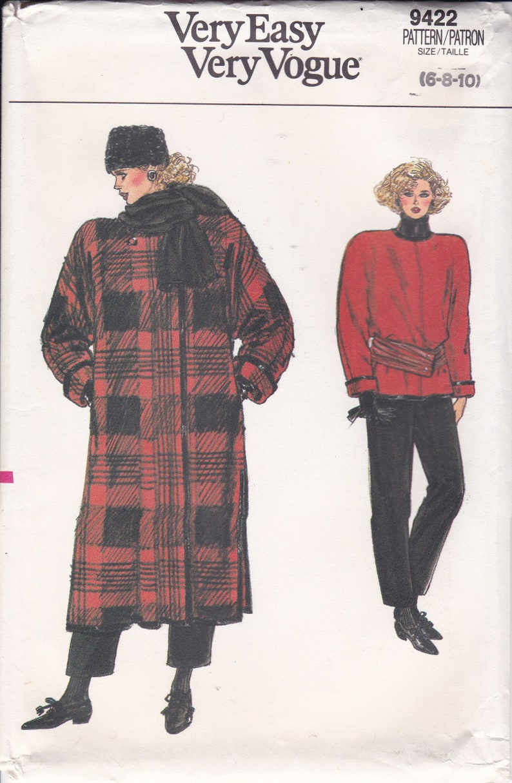 Sewing Pattern Vogue 9422 Vintage Retro 1980's 80's image 0