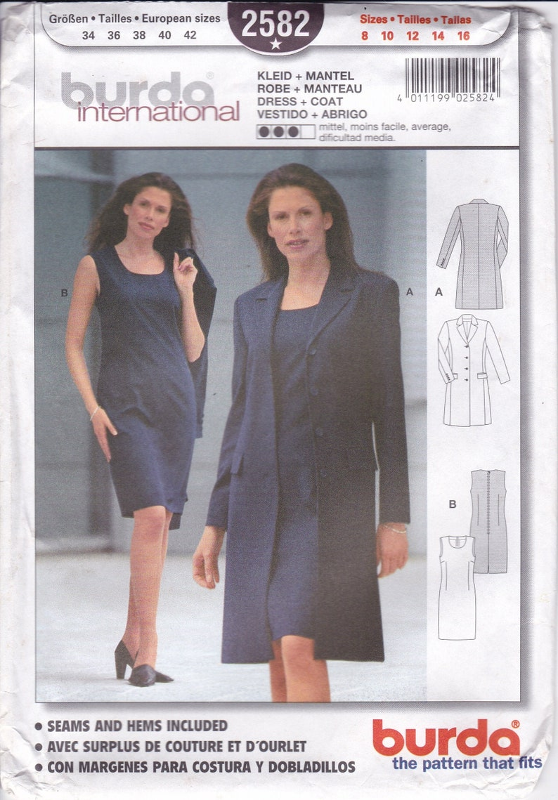 Sewing Pattern Burda 2582 Miss Size 10 12 14 16 18 20  Plus image 0