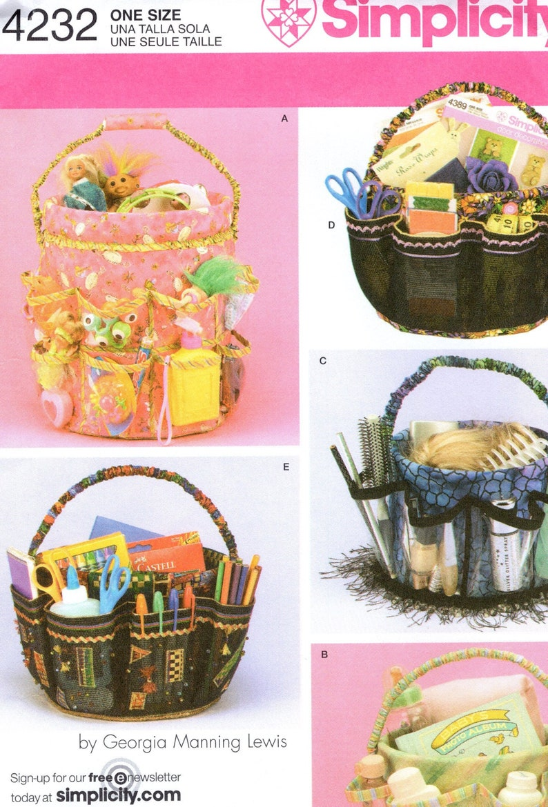 Sewing Pattern Simplicity 4232 Bucket Covers for Baby Garden image 0