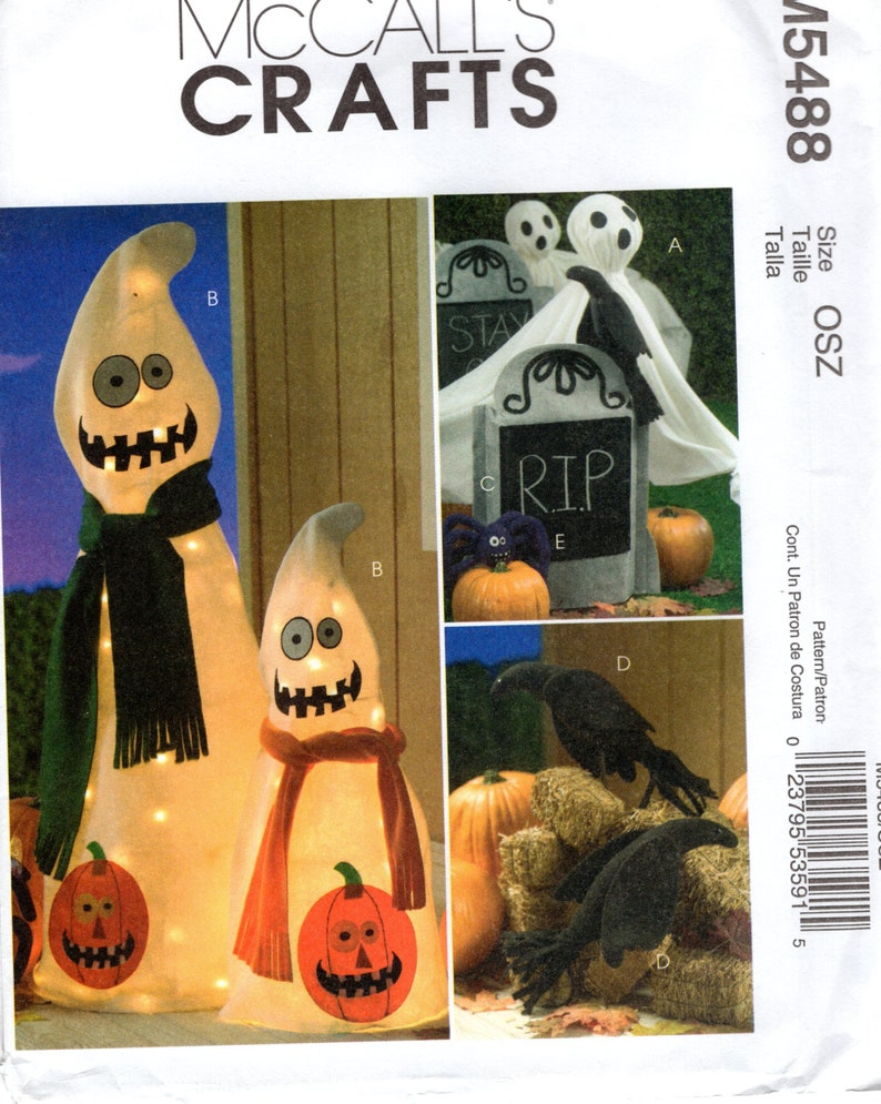 Sewing Pattern McCalls 5488 Halloween Decorations Pumpkins image 0