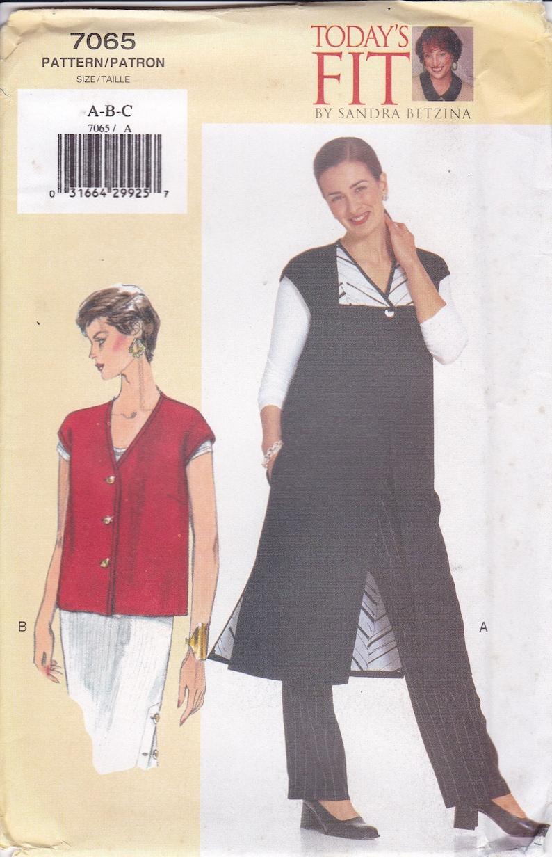 Vogue 7065  Sewing Pattern Today's Fit Sandra Betzina image 0