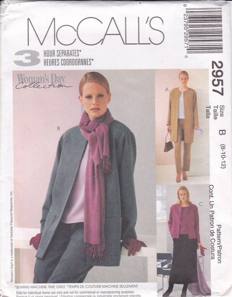 Sewing Pattern McCalls 2954  Woman's Day Collection 3 Hour image 0