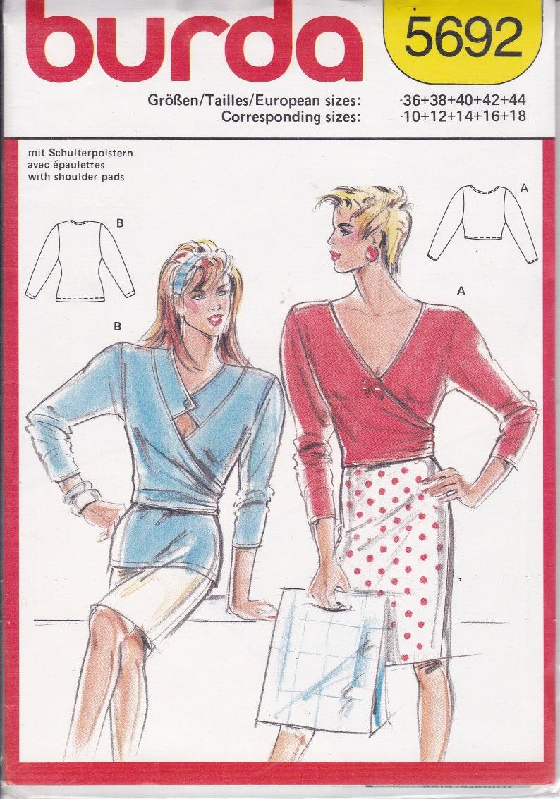 Sewing Pattern Burda  5692 UNCUT Retro 1980s 80's Wrap image 0