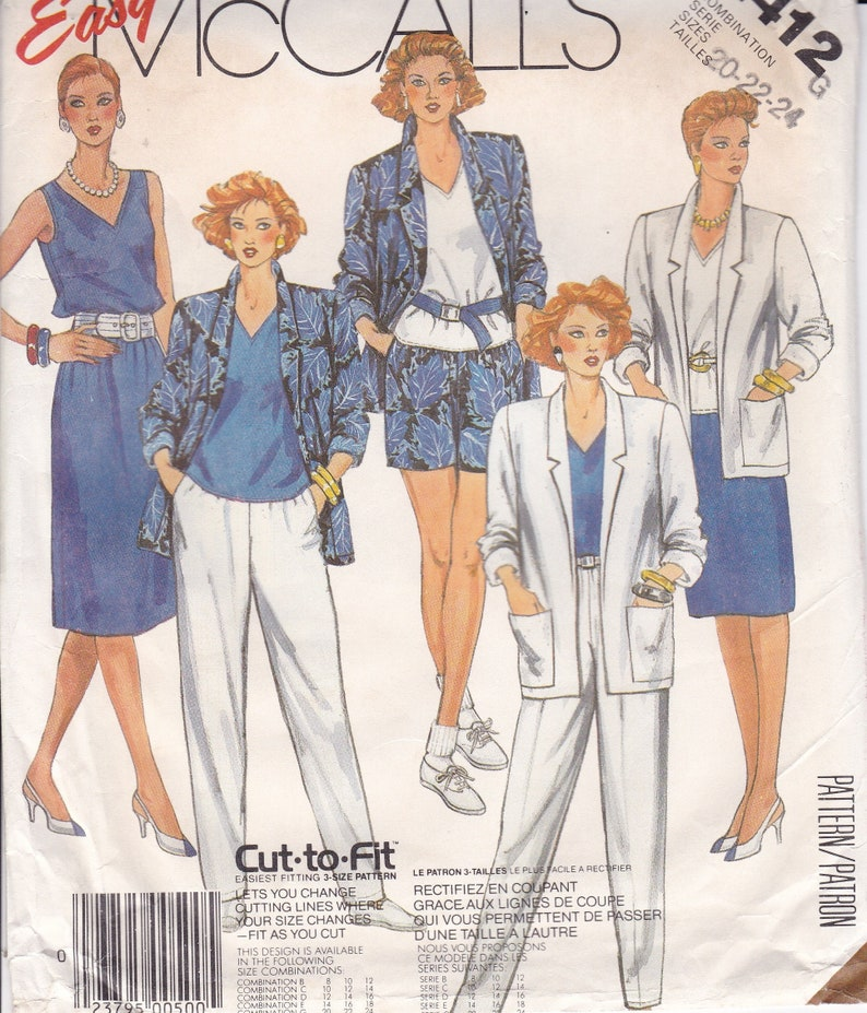 1980/'s McCall/'s Sewing Pattern Choose Your Style Uncut