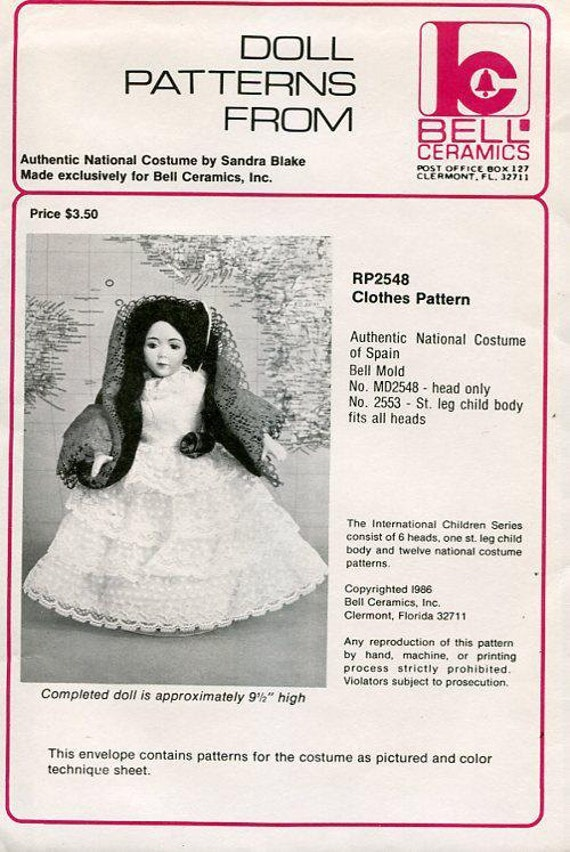 Sewing Pattern Byron Doll Pattern 1980/'s by 161 Katie fits 16.5 Dress Hat New Old Store Stock