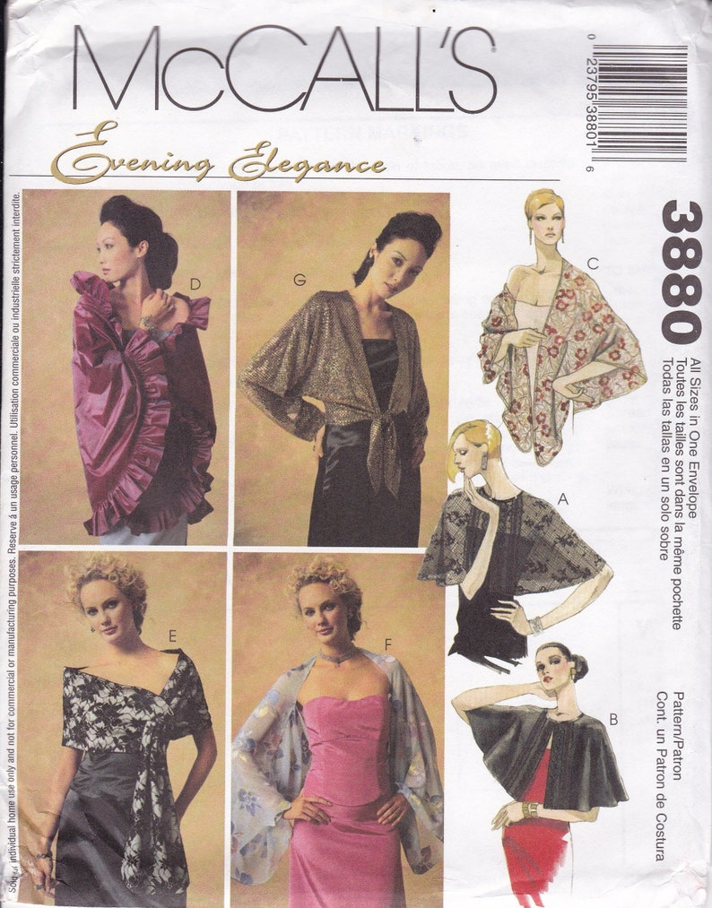 Sewing Pattern McCall's 3880 Bridal Evening Elegance Prom image 0