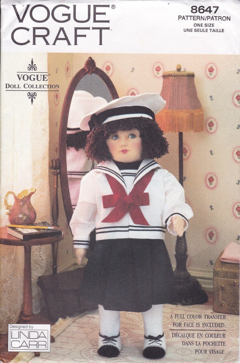 Vogue Doll Collection  8647 UNCUT Sewing Pattern to make image 0