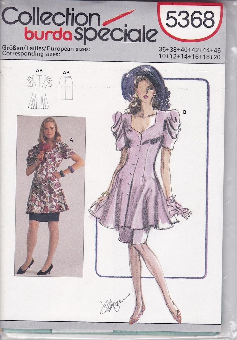 Sewing Pattern Burda 5368 Vintage Retro 1980s 80s Flared Suit image 0