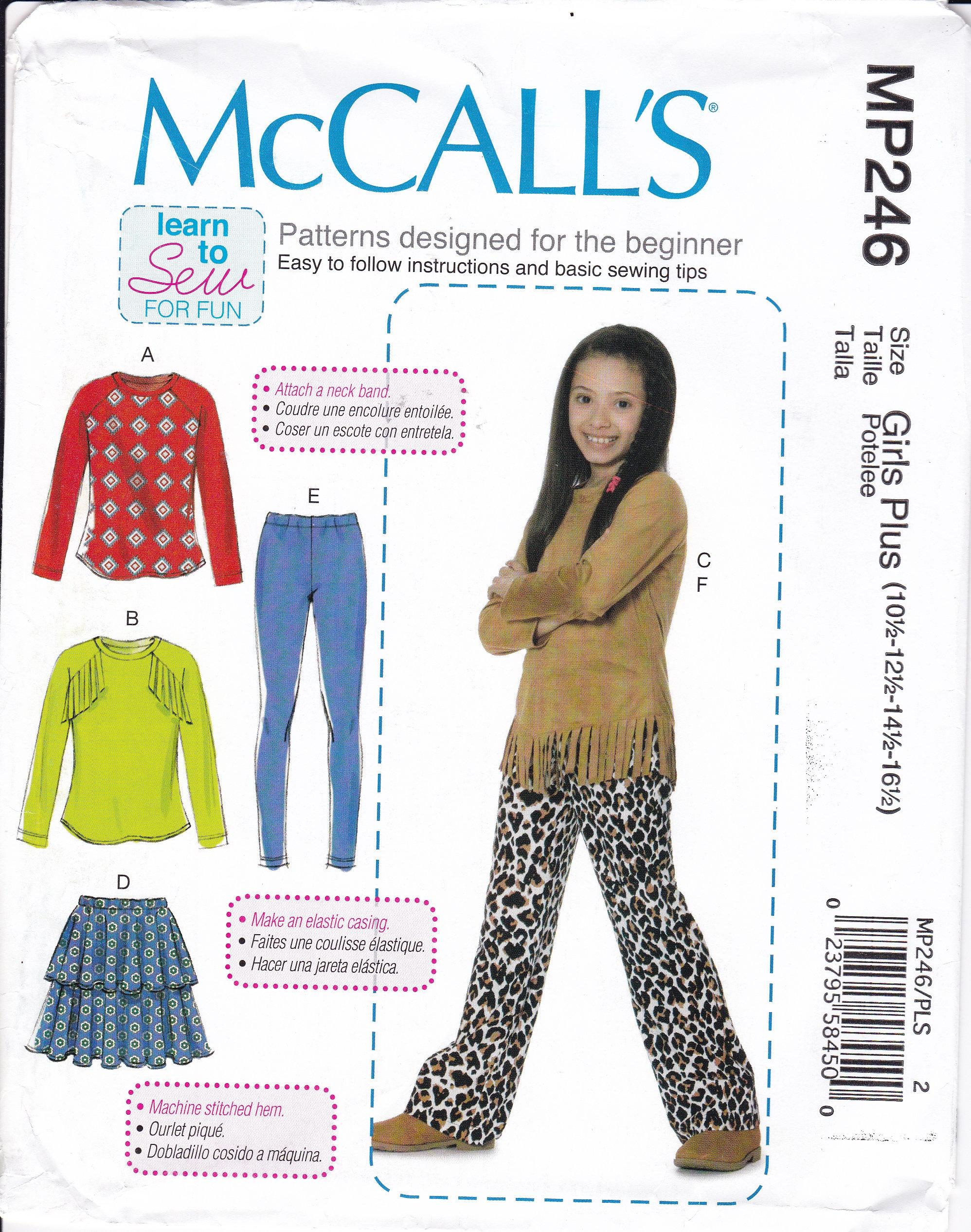 FREE US SHIP Sewing Pattern McCalls 246 7463 Girls Sew for fun ...