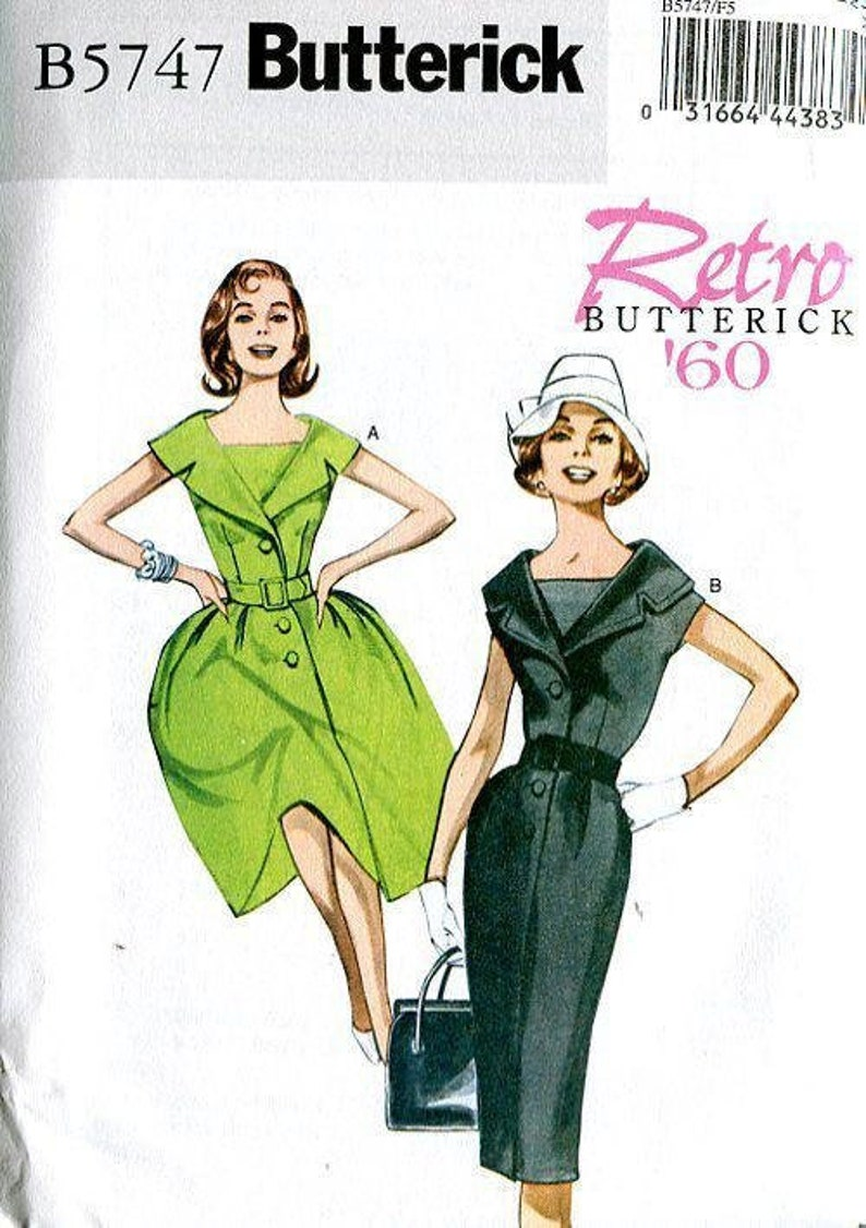 Sewing Pattern Butterick 5747  Vintage Retro  Retro 1960's image 0