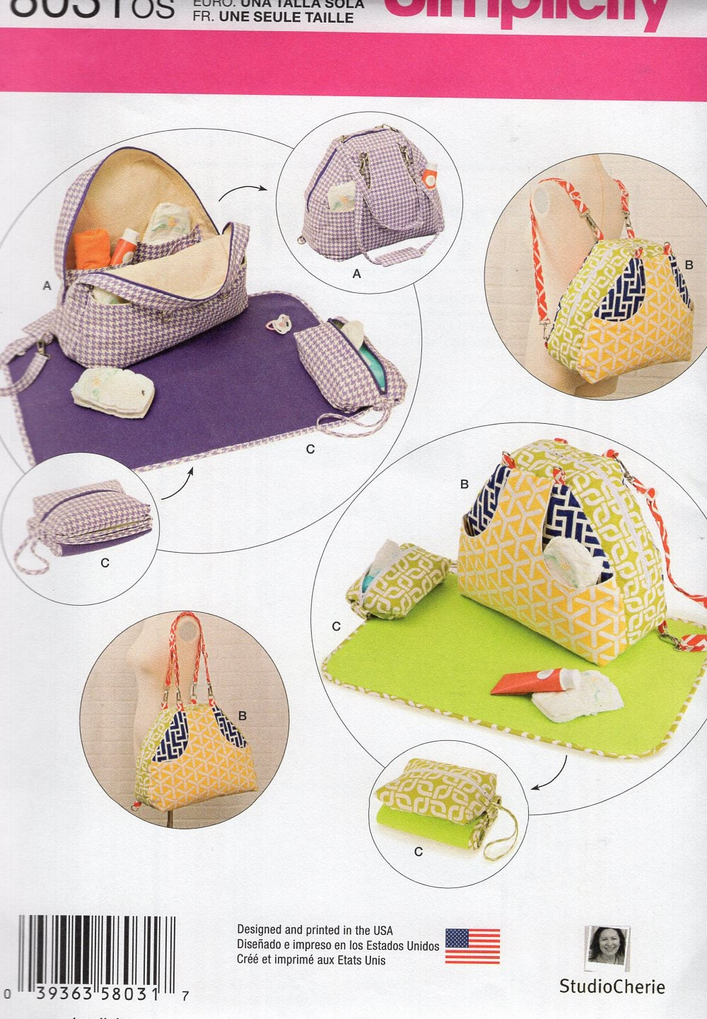 Free Us Ship Craft Sewing Pattern Simplicity 8031 BackPack Studio ...