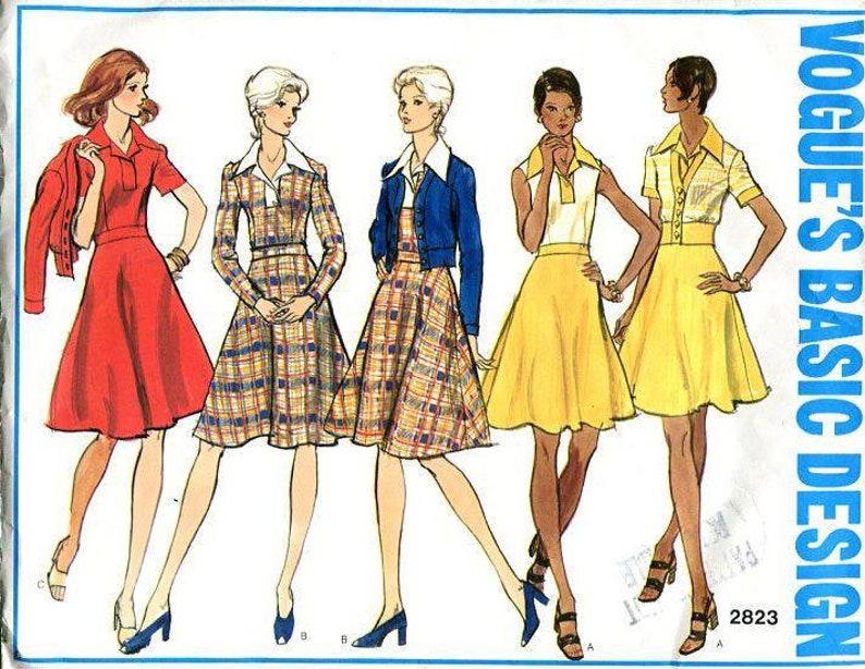 Sewing Pattern Vogue 2823 Vintage Retro 1960s 60s Basic Design image 0