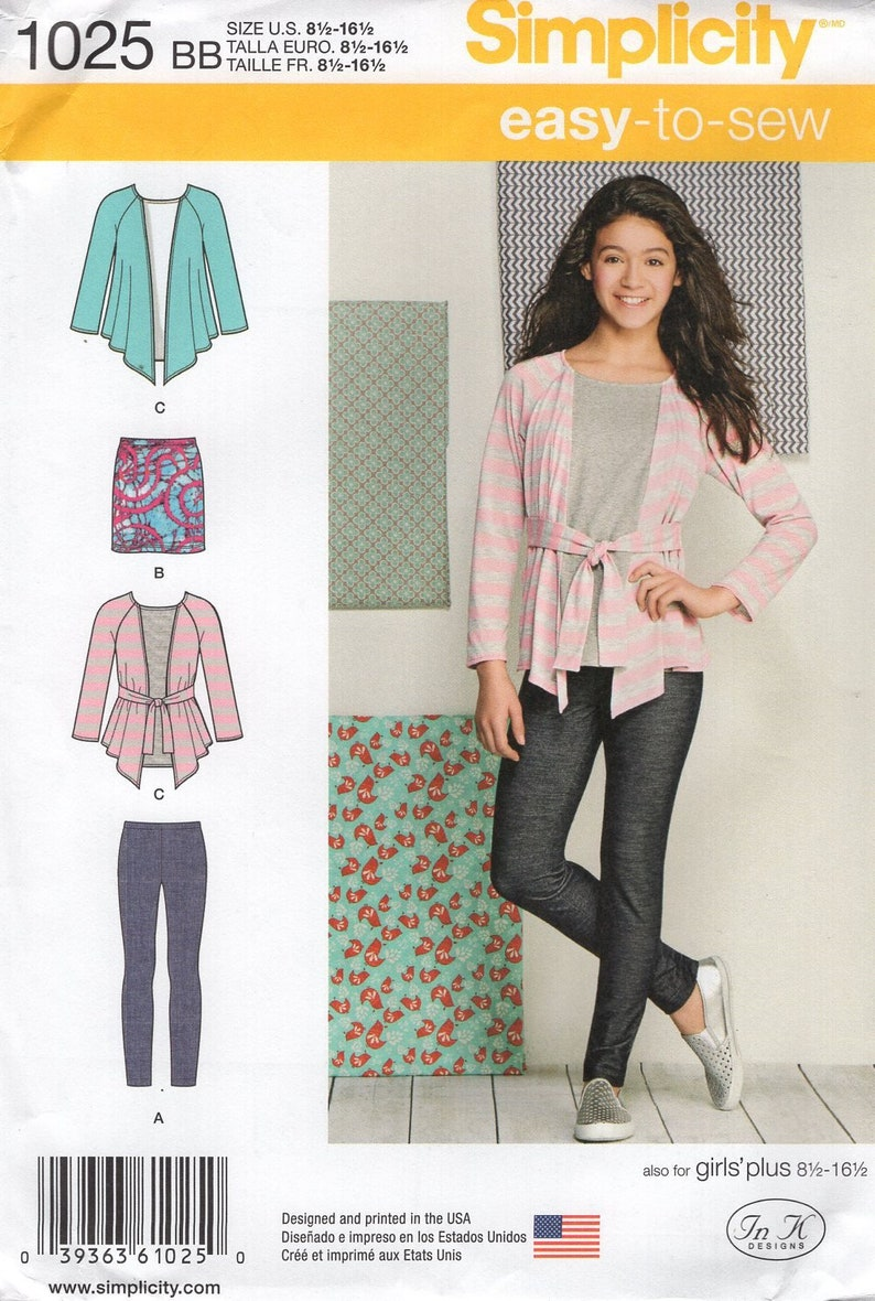 Sewing Pattern Simplicity 1025 Girls Easy Separates Top image 0