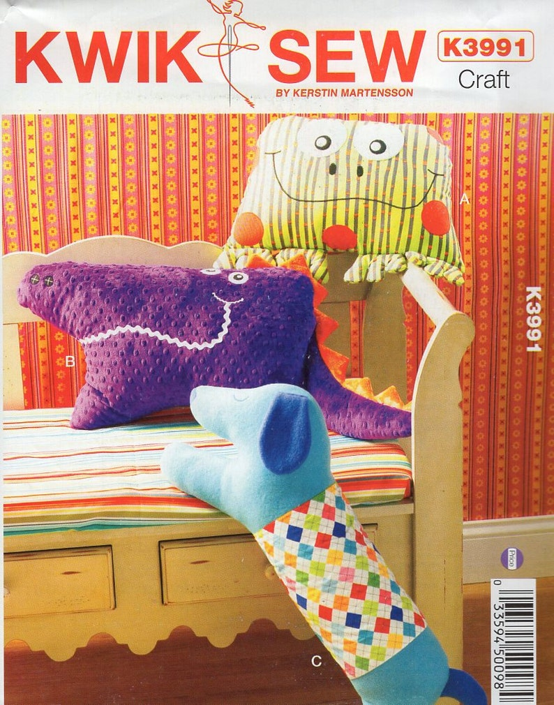 Sewing Pattern Free Us Ship Craft Kwik Sew 3991 Pillows Etsy