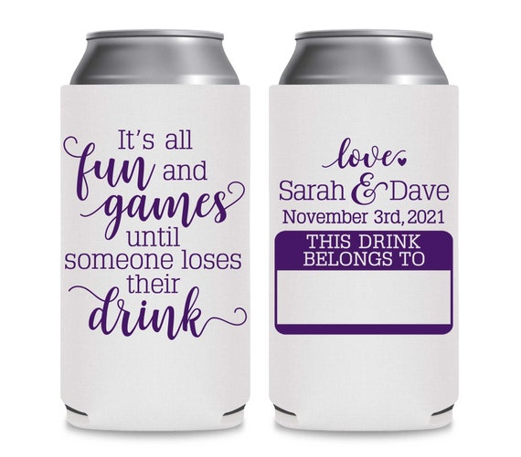 8.3 or 12oz SLIM Can Coolers Rustic Wedding Favors Barn Wedding Can Coolers Boho Wedding Decor To Have /& To Hold Keep Your Beer Cold 1C