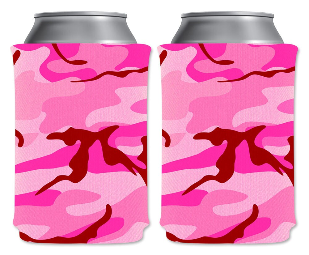 Pink Camo Blank Foam Can Coolers Beverage Insulators Pack | Etsy