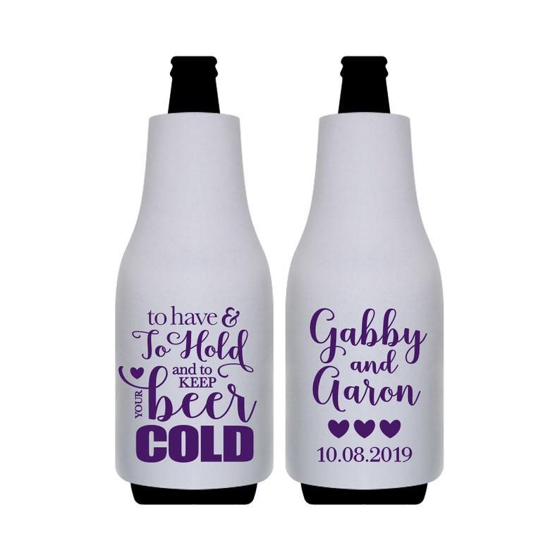 Wedding Bottle Hugger Beach Wedding Favors Beer Bottle Holders Custom Bottle Coolers Bottle Sleeves To Have /& To Hold Keep Your Beer Cold 2A