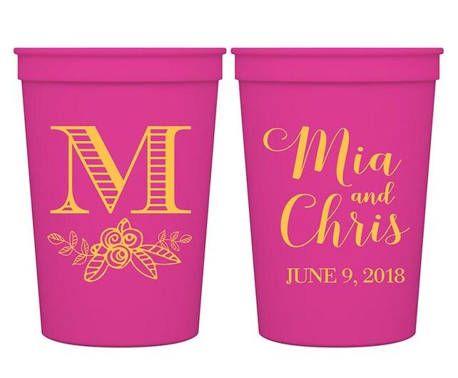 12oz Smooth  Personalized Stadium Basic Drinking Fun Custom Cups Wedding Favors | Classic(6A) | BPA Free | READ DESCRIPTION