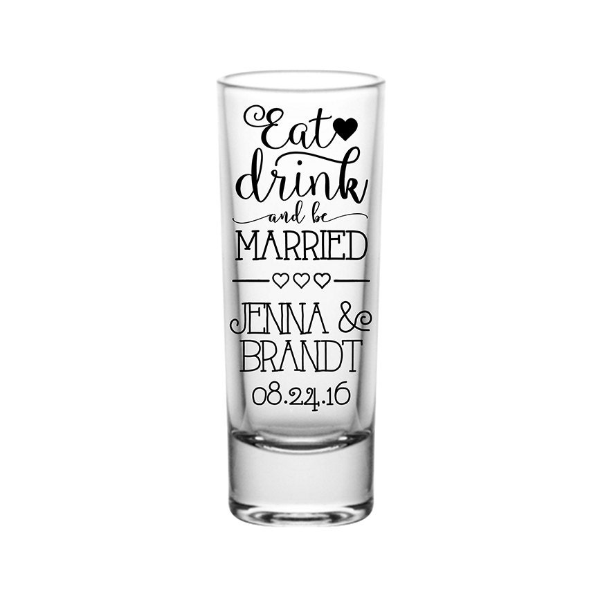 200x Favors Cordial Tall Shot Glasses Customized Wedding Favors 200x