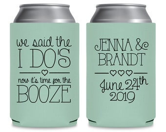 Wedding Can Coolers Wedding Favors for Guests in Bulk Custom Wedding Favours Wedding Party Gifts We Said The I Do's 1A Unique Wedding Favors