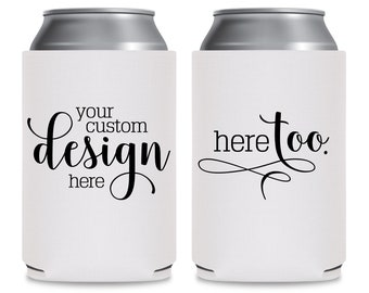 Wedding Can Coolers Wedding Favors Personalized Bridesmaid Gift Ideas Wedding Party Favors Personalized Wedding Monogram Boho Wedding Decor