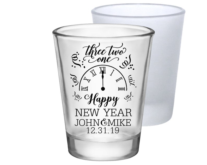 fa1ee10680b735 Clear or Frosted New Year s Eve Wedding Shot Glasses