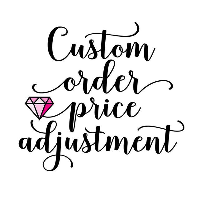 Custom Order Price Adjustment