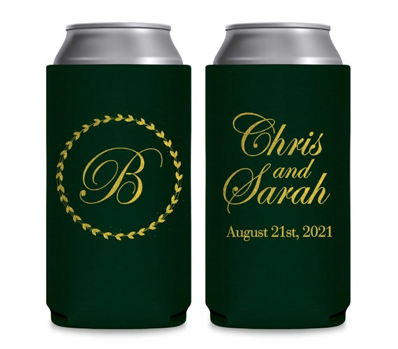 SLIM Can Coolers Personalized Wedding Favors Fairytale Wedding Can Coolers Gifts Bridal Favors They Lived Happily Ever After 1C 8.3 & 12oz Party Favors & Games Party Favors