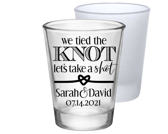 190 Puerto Rico Wedding Destination Wedding Frosted Shot Glasses Frosted Glass San Juan Wedding