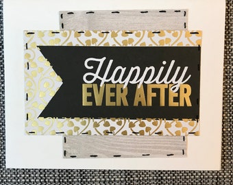 Handmade // Wedding // Card // Happily Ever After