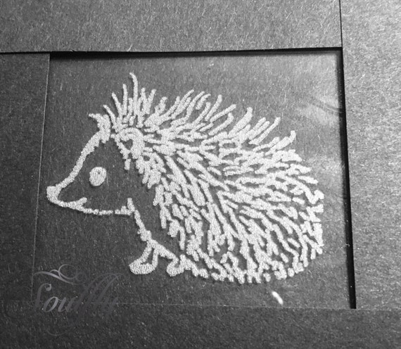 HEDGEHOG engraved, etched, glass, personalised, choice of glass, gift,  wine, beer, whiskey, tankard, champagne, mason, hiball,
