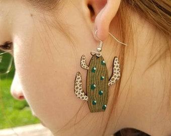 Saguaro Cactus & Tangles Earrings