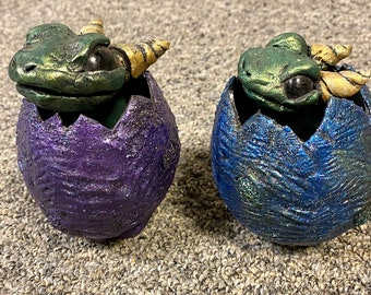 Medium Dragon in hatching egg - great gift - each one unique!