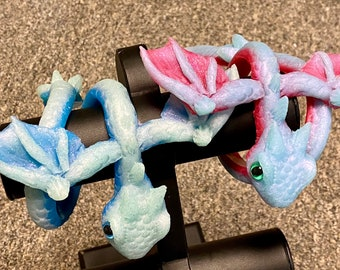 Dragon wrap bracelet glow and sparkle spring colors